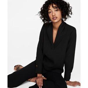 Zara, V-NECK blouse, XS